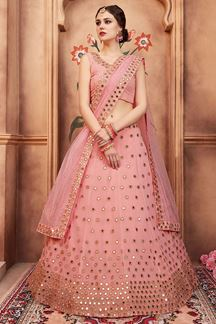 Picture of Heart throbbing pink designer lehenga