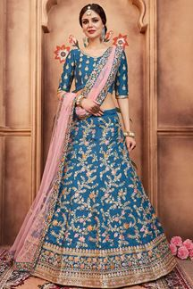 Picture of Captivating blue designer lehenga choli