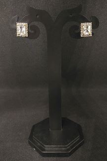 Picture of Striking American diamond earrings