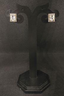 Picture of Striking American diamond earrings