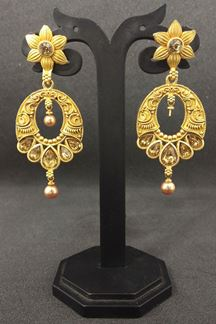 Picture of Timeless gold plated designer earrings