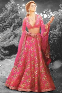 Picture of Distinct pink designer lehenga choli set