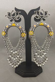 Picture of Tempting yellow designer long earrings