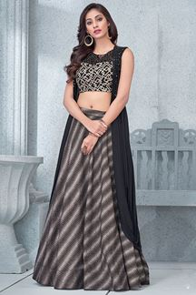 Picture of Fetching black & grey designer lehenga