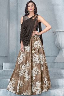 Picture of Upstyle brown designer lehenga choli set