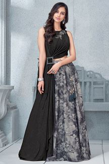 Picture of Quintessential black & grey lehenga choli