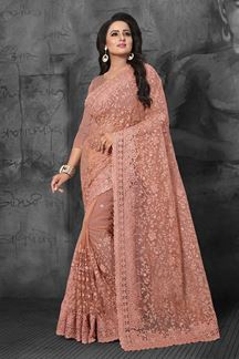 Picture of Signature dusty peach designer saree