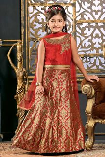 Picture of Classy red designer lehenga choli set