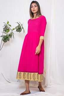 Picture of Catchy pink designer readymade kurti