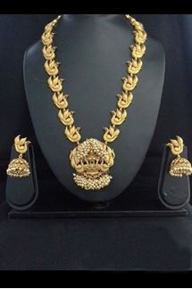 Picture of Stylish gold plated designer necklace set