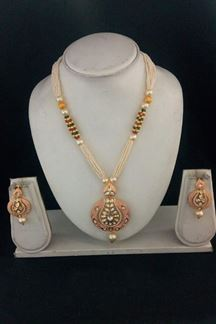 Picture of Refreshing pink & green necklace set