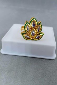 Picture of Timeless green detailed finger ring