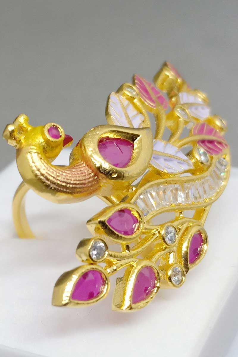 9e9991dd71ee0 Transitional deep pink finger ring