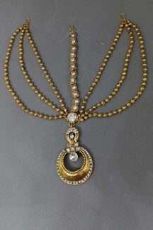Picture of Celestial dull gold plated maang tikka