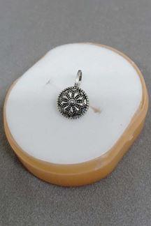 Picture of Lavish silver color designer nose ring