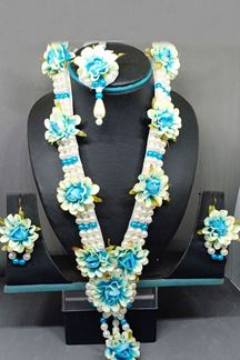 Picture of Flourishing blue & white necklace set