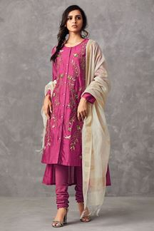 Picture of Ravishing deep pink designer suit