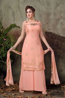 Picture of Transformational peach color gharara set