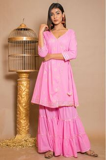 Picture of Beautiful Pink Palazzo Suit