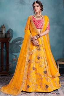 Picture of Marvelous Yellow Party Wear Lehenga Choli