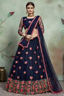 Picture of Stunning Blue Colored Designer Lehenga Choli