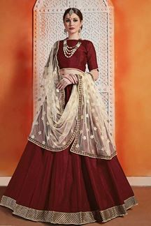 Picture of Beautiful Maroon Colour Designer Lehenga Choli