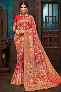 Picture of Red Color Upada Patola Saree