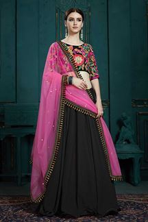 Picture of Charming Black Color Designer Lehenga Choli