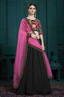 Picture of Charming Black Color Designer Lehenga Choli