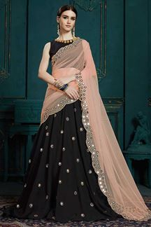 Picture of Charming Black Color Festive Wear Designer Lehenga Choli