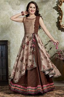 Picture of Innovative Brown Colored Party Wear Kurti