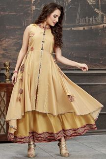 Picture of Majesty Yellow Colored Designer Kurti