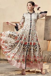 Picture of Impressive Multi- Colored Partywear Printed Kurti