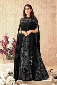 Picture of Black Cocktail Designer  Lehenga