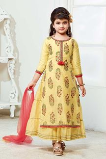 Picture of Glorious Yellow Designer kids Wear Suit