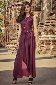 Picture of Designer  Kurti in Magenta Colored