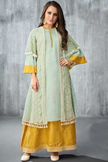 Picture of Look elegant with yellow & Sea green
