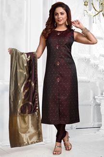Picture of Ravishing Wine Colored Designer Suit