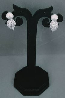 Picture of American Diamond Tops Earrings In Flower Shape