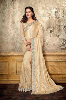 Picture of Quintessential Cream Designer Saree