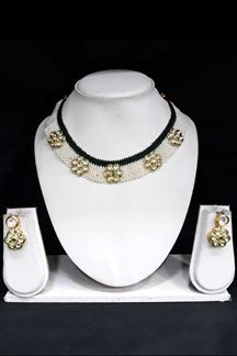 Picture of Rubans Gold Plated Kundan Studded Choker Necklace Set