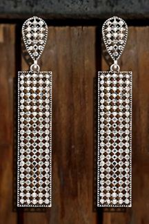 Picture of Impeccable White Stone Silver Plated Dangler Earring