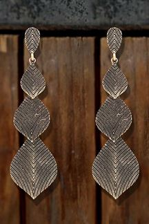 Picture of Infinity Long Designer Gold Plated Western Wear Earrings