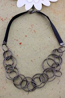 Picture of Silver Plated Necklace Set With Uncountable Steel Ring