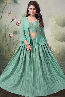 Picture of Exotic Green Designer lehenga choli