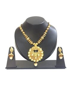 Picture of Stunning gold plated pendant set