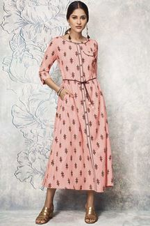 Picture of Refreshing Pink Colored Party wear Kurti