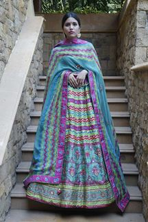 Picture of Exquisite Multi-Colored Designer Lehenga Choli