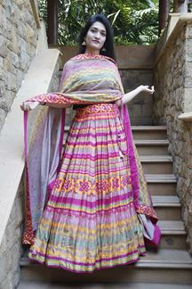 Picture of Bedazzling Multi-Colored Designer Lehenga Choli