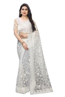 Picture of Scintillating White Color Net Wedding